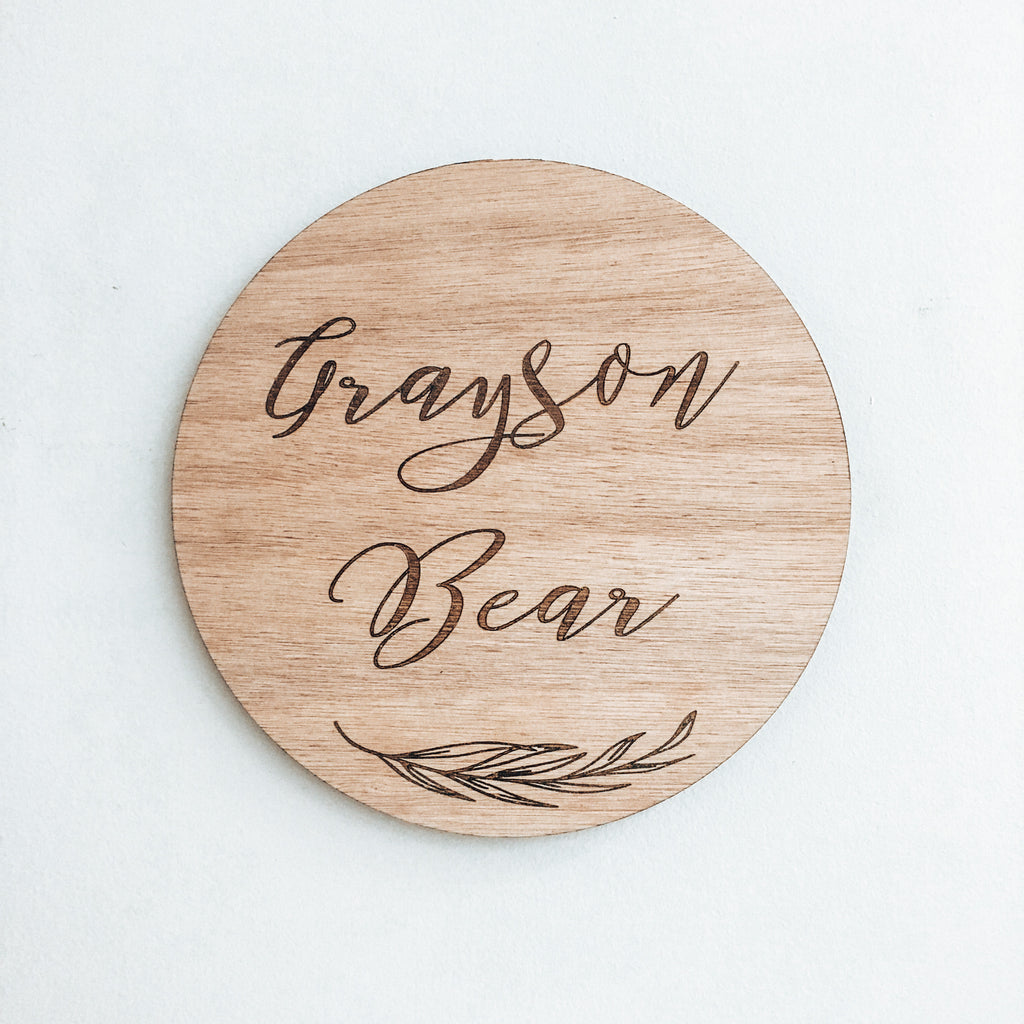 Grayson Name Plaque