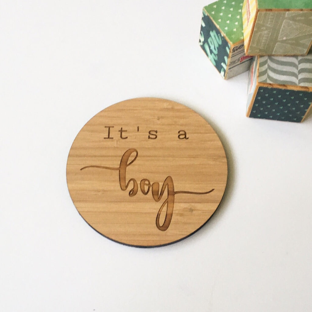 Gender reveal plaque
