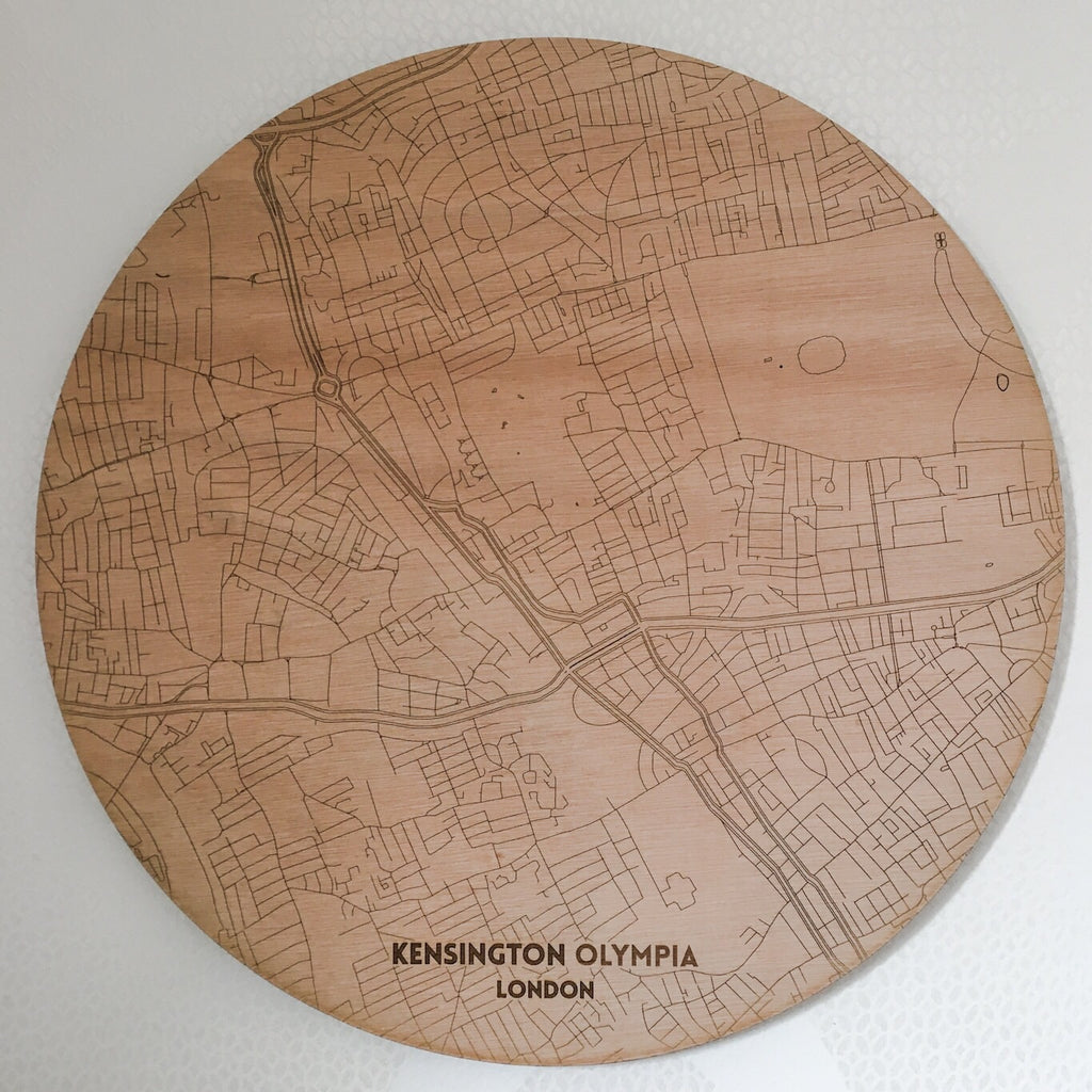 Circular Map Wall Plaque