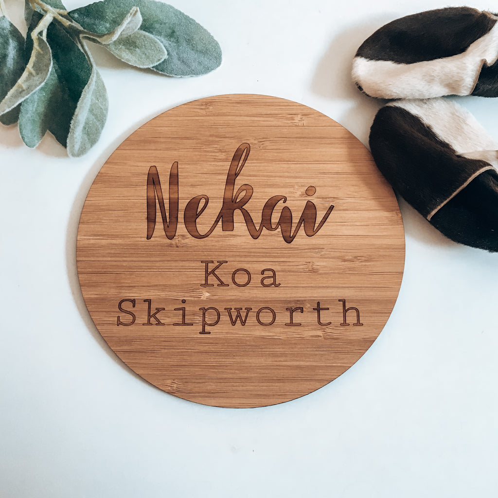 Nekai Name Plaque