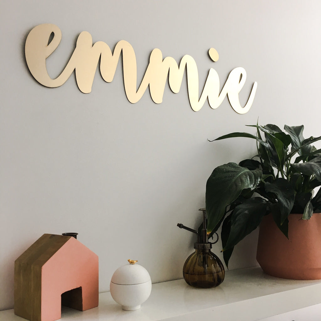 Extra Large Gold Laser Cut Name