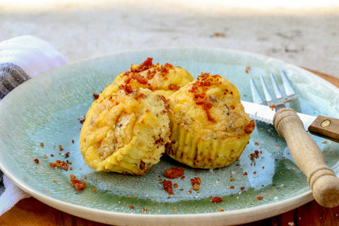 Savory Keto Breakfast Egg Muffins with Bacon