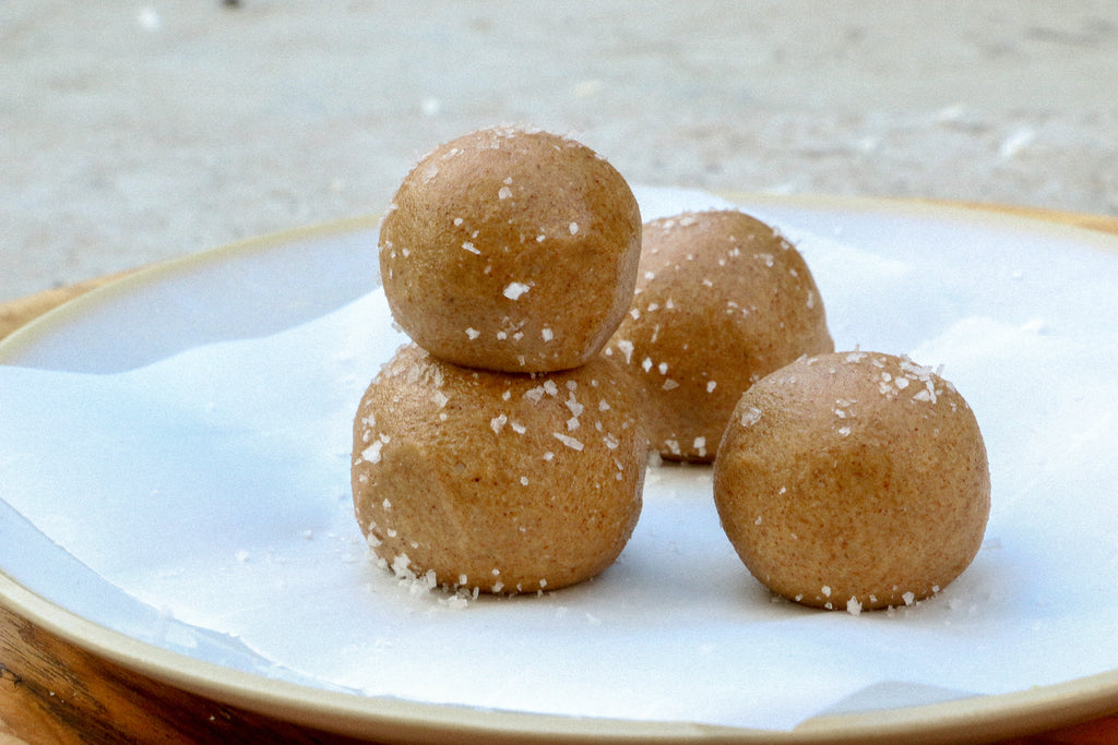 3 Ingredient Almond Butter Fat Bombs with Coconut Butter and Sea Salt