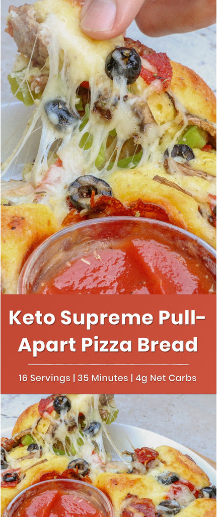 Keto Supreme Pull Apart Pizza Bread