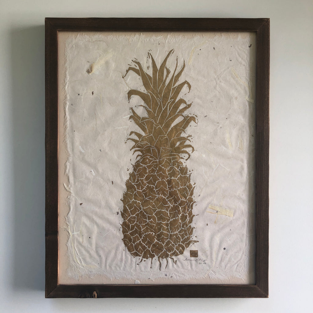 Pineapple in Gold- shou suji ban frame