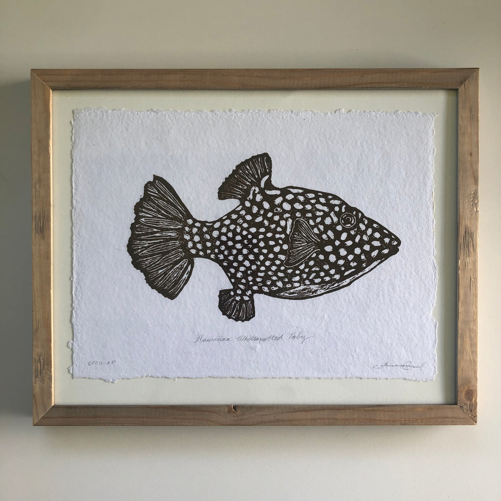 White Spotted Toby- framed 11x14