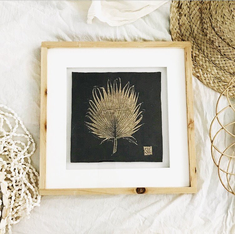 Loulu Palm Frond in Shadow Box