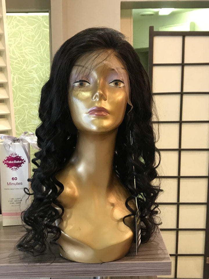 "- bellazara-hair-boutique - 20"" Brazilian Lace Wig with a Soft Curl"