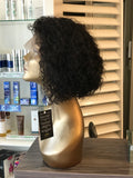 "- bellazara-hair-boutique - 8"" Brazilian Curly Lace Front Wig"