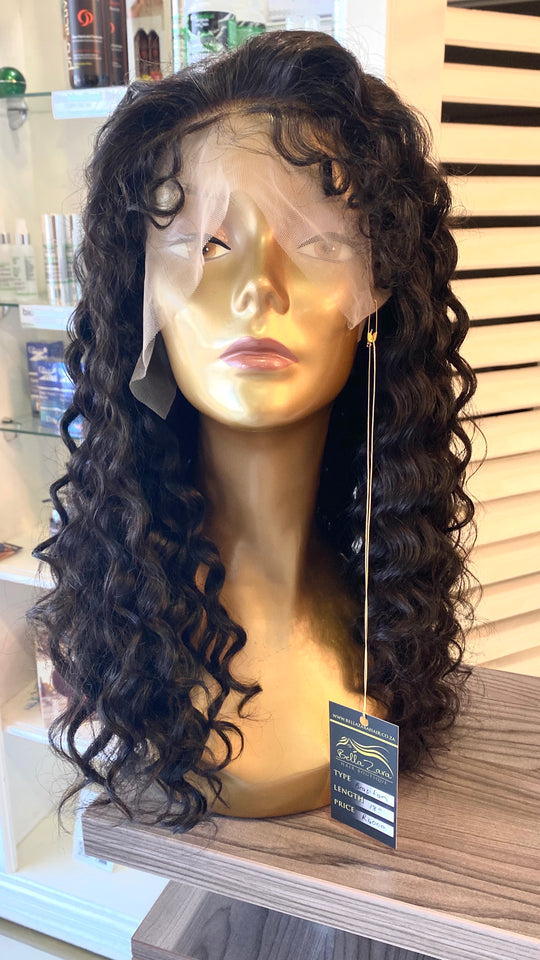 "16"" Brazilian curly Lace Front Wig"