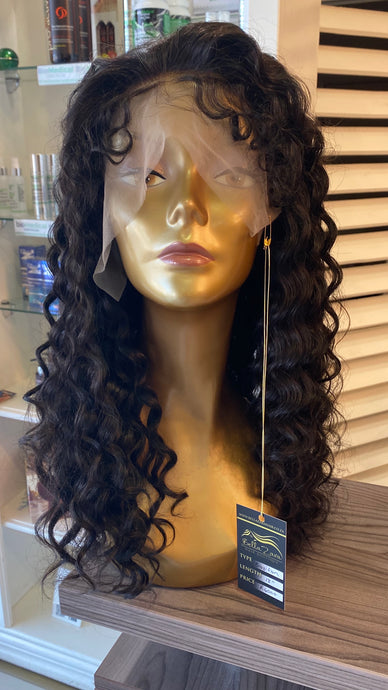 "18"" Brazilian Curly Lace Wig"