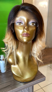 "12"" Brazilian Lace Wig in Blonde Ombre"