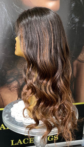 "18"" Luxury Brazilian Ombré Lace Front Wig"