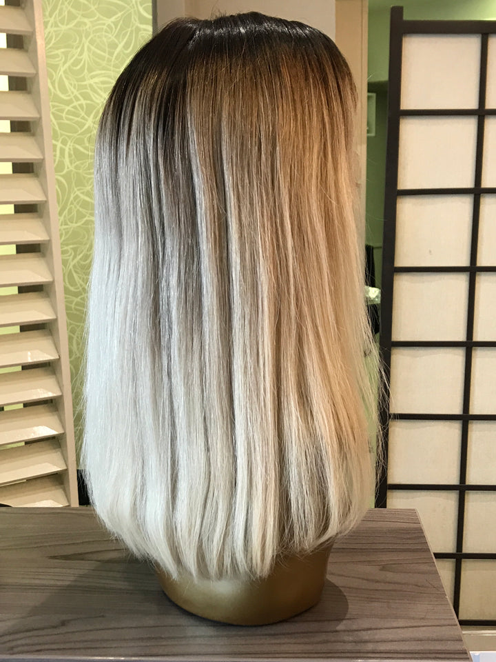 "- bellazara-hair-boutique - 14"" Brazilian Blonde Ombré Lace Wig"