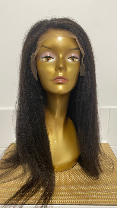 "20"" Kinky Straight Lace Front Wig"
