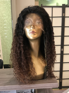"20"" Brazilian Ombré Curly Lace Wig"