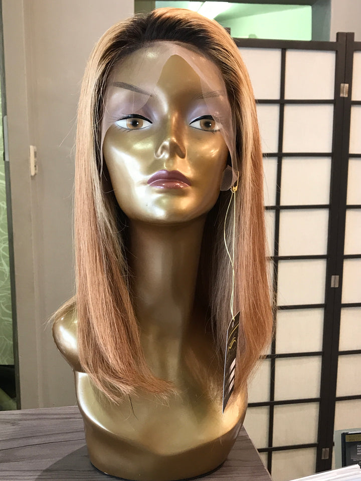 "14"" Brazilian Lace Front Wig in Honey Blonde"