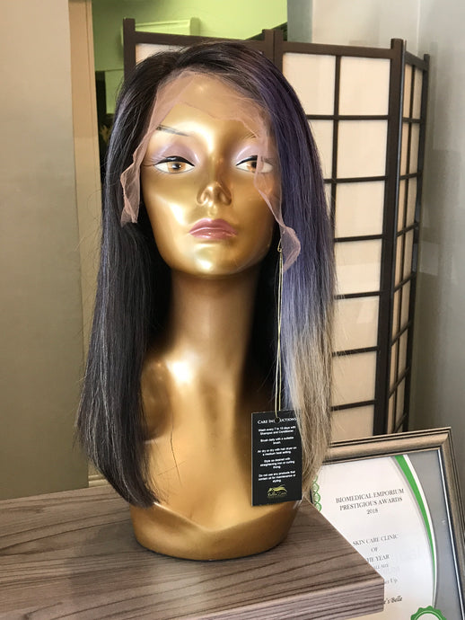 "- bellazara-hair-boutique - 12"" Brazilian Lace Wig with Blue"