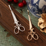6PCS Hot Sale Fashion Women Chic Golden Silvery Scissors Shaped Hair Clip Hair Pin Headwear - ElectraFied