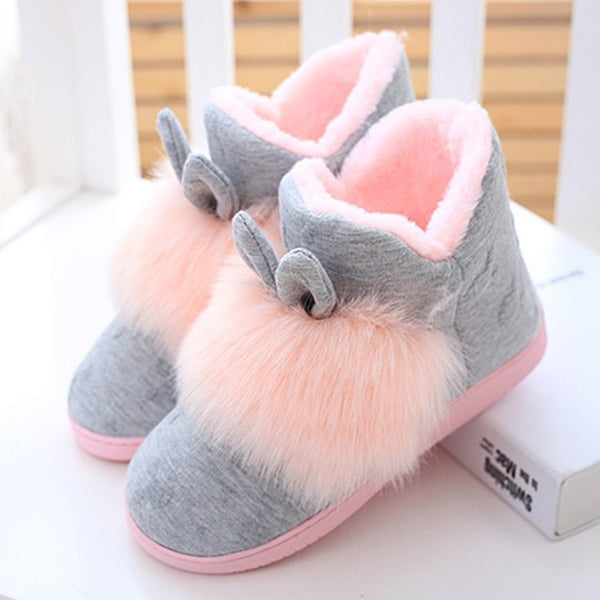 Indoor Slippers Non Slip Shoes Women Soft Warm Flat Plush Winter Autumn Warm New - ElectraFied
