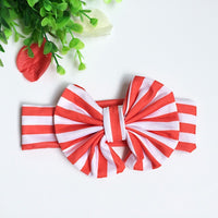 Girls Toddler Elastic Bowknot Hairbands Hair Infant Stripe Headbands - ElectraFied