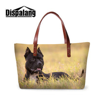 Dispalang 3D Cute Animals Dog Printed Totes - Multiple Breeds Available