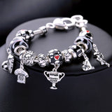 JOOLIM Jewelry Wholesale/ 16 Options World Cup Football Basketball Student Bracelet withing Charm Bracelet