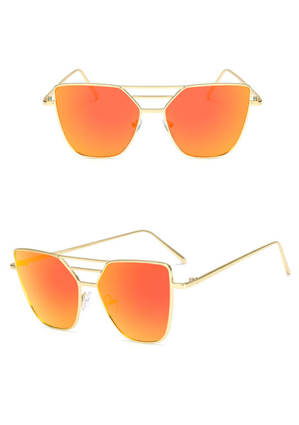 Fashion  Unisex Vintage Irregular Glasses Fashion Aviator Mirror  Sunglasses - ElectraFied