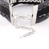 Infinity Love FOOTBALL bracelet Sport football mom charm leather wrap men bracelets & bangles for women jewelry