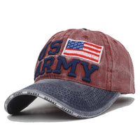 AETRUE New Vintage Baseball Cap Men USARMY Snapback