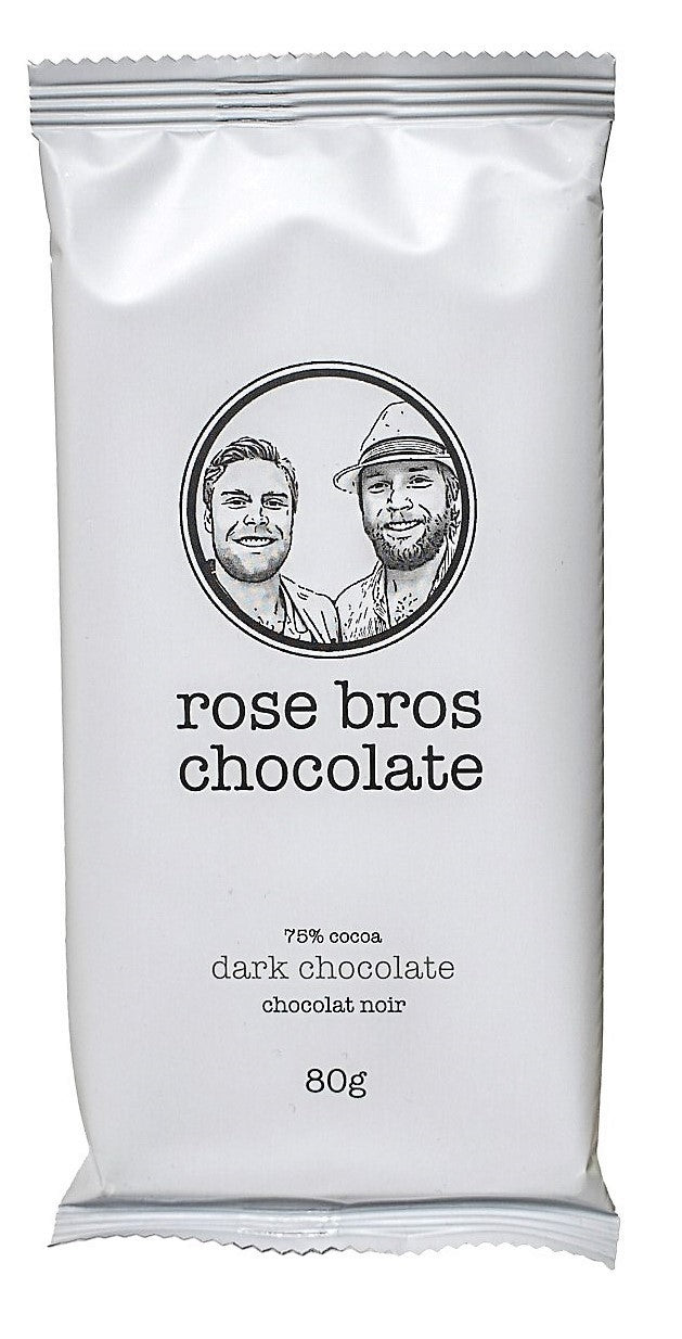 Rose Bros, Dark Chocolate Bar, 80 g