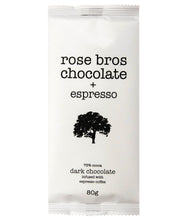 rose bros chocolate, Espresso Bar, 80 g