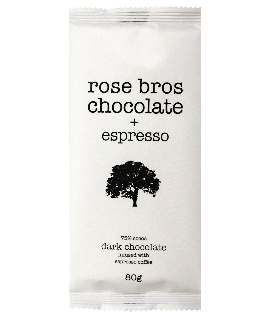 Rose Bros, Dark Chocolate, Espresso Bar, 80 g