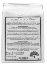 rose bros coffee, Sunnyside Station, Sumatra, Dark Roast, 1 lb.
