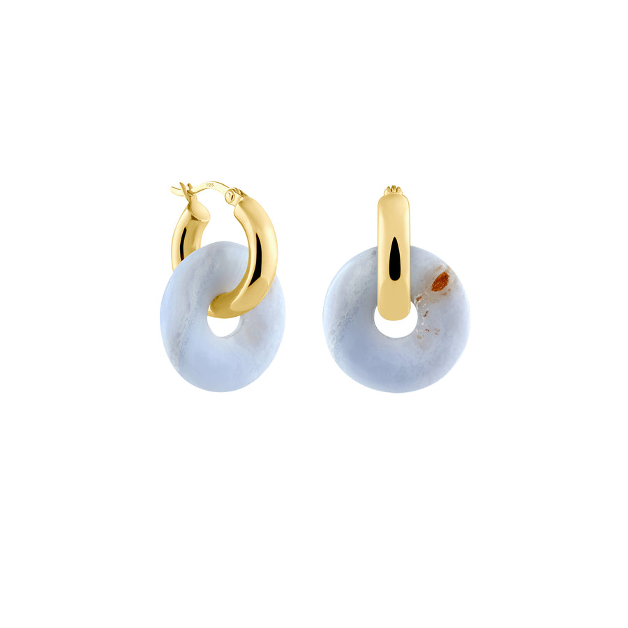 Kreolen + Medium Chalcedon - Gold