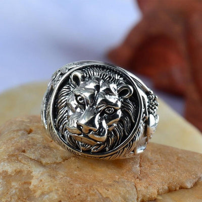 Silver Lion Ring - ShinyGoods.store