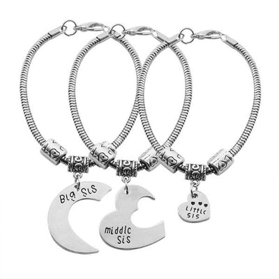 Pair Bracelets for Three Sisters - ShinyGoods.store