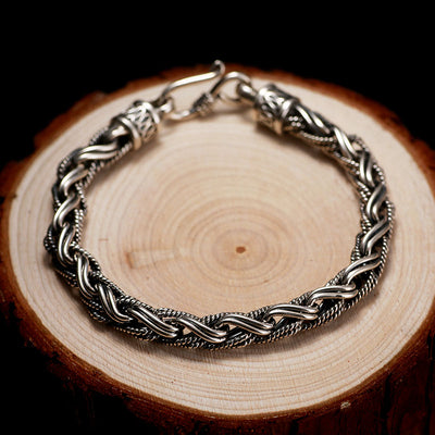 Silver Twisted Rope Bracelet - ShinyGoods.store