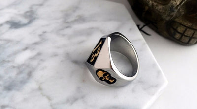 Number 13 Ring with Skulls - ShinyGoods.store