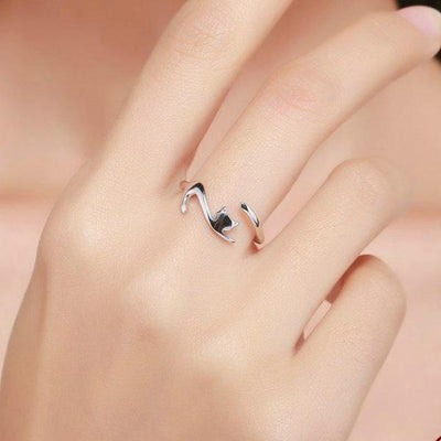 Silver Cat Ring - ShinyGoods.store