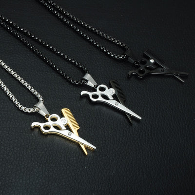 Scissors and Comb Pendant - ShinyGoods.store