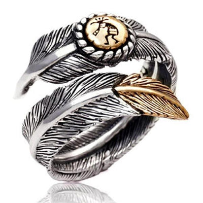 Silver Feather Ring - ShinyGoods.store