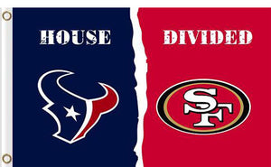 Houston Texans vs San Francisco 49ers 2 Divided Flag