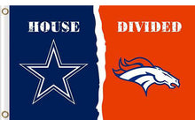 Load image into Gallery viewer, Dallas Cowboys vs Denver Broncos Divided Flag