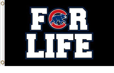 Chicago Cubs For Life Banner flag 3ftx5ft
