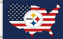 Load image into Gallery viewer, Pittsburgh Steelers US Flags 3ftx5ft