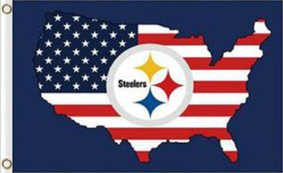 Pittsburgh Steelers US Flags 3ftx5ft