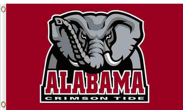 Alabama Crimson Tide Logo Hand Flag 90*150