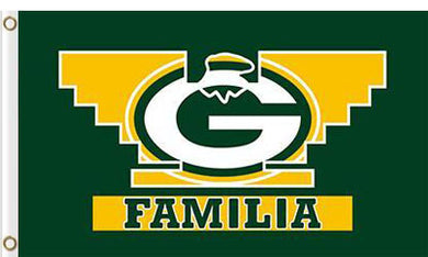 Green Bay Packers Familia Flag 3X5Ft