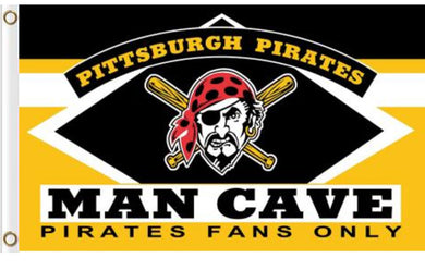Pittsburgh Pirates Man Cave Yellow Banner flag 90x150cm
